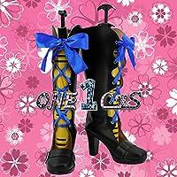 【サイズ選択可】コスプレ靴 ブーツ 12L1608 黒執事 豪華客船編 シエル・ファントムハイヴ Ciel Phantomhive 女性23.5CM