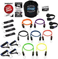 Bodylastics Resistance Bands Sets with Free Online Workouts. Patented Anti-Snap 12pcs, 14pcs, 19pcs and 31pcs Kits with...