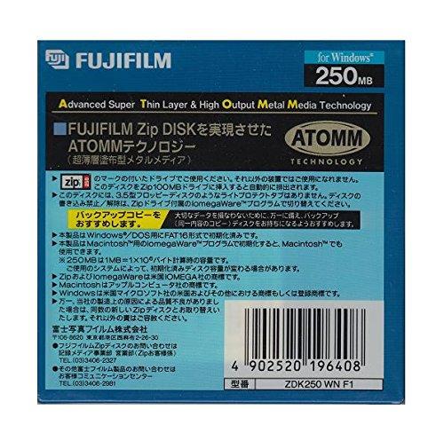 FUJIFILM ZIPドライブ用 250MBメディア ZDK250 WIN F1