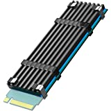 GLOTRENDS M.2ヒートシンク PC / PS5用サーマルシリコンパッド付きM.2 PCIE NVMe SSD (高さ:3mm)+導熱接着シート+シリコンゴム+取付用(金属)付き