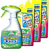 【まとめ買い】 スクラビングバブル 浴室・浴槽洗剤 防カビ・除菌プラスバスクリーナー フレッシュフローラルの香り 本体 400ml+つめかえ3個セット