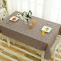 コットンリネンテーブルクロス-食卓用和風テーブルカバー,,デスク,四角い長方形の丸いテーブル-