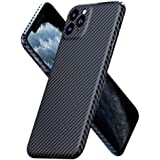 Funrose Carbon Fiber Slim Case Compatible with iPhone 11/11Pro/11 Pro Max, Genuine Carbon Fiber Minimalist Strongest Durable