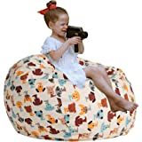 """CALA LIFE Kids Stuffed Animal Bean Bag Chair Cover, Plush Toy Organizer and Storage, Extra Large 38"""" Beanbag Chairs for Boys"""
