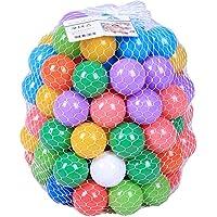 RedGlobe 50個 カラフルな水プールの子供用おもちゃ テント 海の波 ボール 屋外遊び プラスチックボール 子供用 面白いお風呂 おもちゃ 水泳 ピット スポーツボール