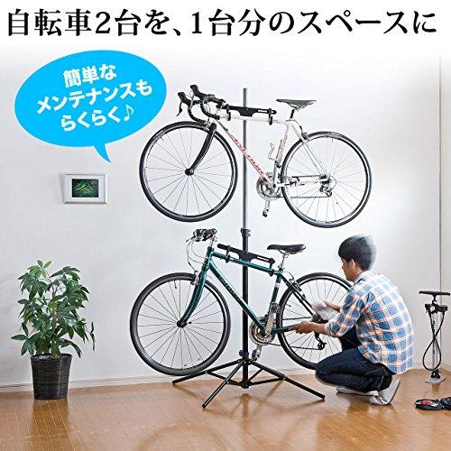 自転車2台を並べて置ける15,800円のディスプレイスタンド(800-BYST3)