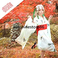 「ノーブランド品」コスプレ衣装Fate/Grand Order ジャンヌ・ダルク風和服浴衣 +髪飾り*2+道具髪飾りセット
