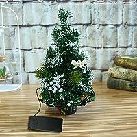 inverleeミニ人工クリスマスツリーLEDグローベッドルームデスク装飾ギフトオフィステーブルホーム装飾