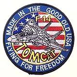 "TC06 アメリカ軍 ミリタリー ワッペン F-14 トムキャット ""FLYING FOR FREEDOM"", US.NAVY [並行輸入品]"