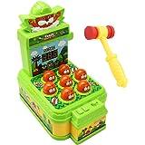 happycenter もぐらたたきゲーム ミニサイズ 点数表示 音量調節 ハンマー付属 昔ながら おもちゃ