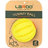 LaRoo Dog Treat Toys -Interactive Puzzle IQ Chew Ball -Durable Dog Puzzle Toy-Dispensing Dog Toy-Fetch Balls for Large and Sm