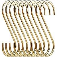simpletome Sフック銅Hangers forキッチンバスルーム寝室オフィス ゴールド SHOOKS01