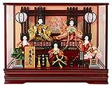 雛人形 吉徳 ケース 五人飾り 衣装タイプA(h283-yscp-322298) yscp-322298-297