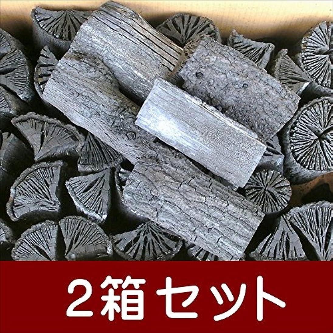 木炭 炭 備長炭 バーベキュー オガ炭 自社製 大分椚炭(くぬぎ炭)切炭13cm10kg 2箱セット 大分県産 最高級
