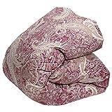 昭和西川 羽毛掛け布団 シングルサイズ 150×210cm ホワイトマザーグースダウン93% (ピンク)