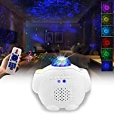 Starry Night Light Projector Bedroom, 3 in 1 Ocean Wave Projector Galaxy Projector Light w/Bluetooth Music Speaker for Baby K