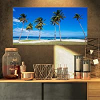 """デザインアート明るいとクリアトロピカルビーチXL Seascapeアートキャンバス 32x16"""" PT10845-32-16"""