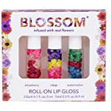 Blossom Roll-On LIP GLOSS Set Strawberry/Mango/Watermelon