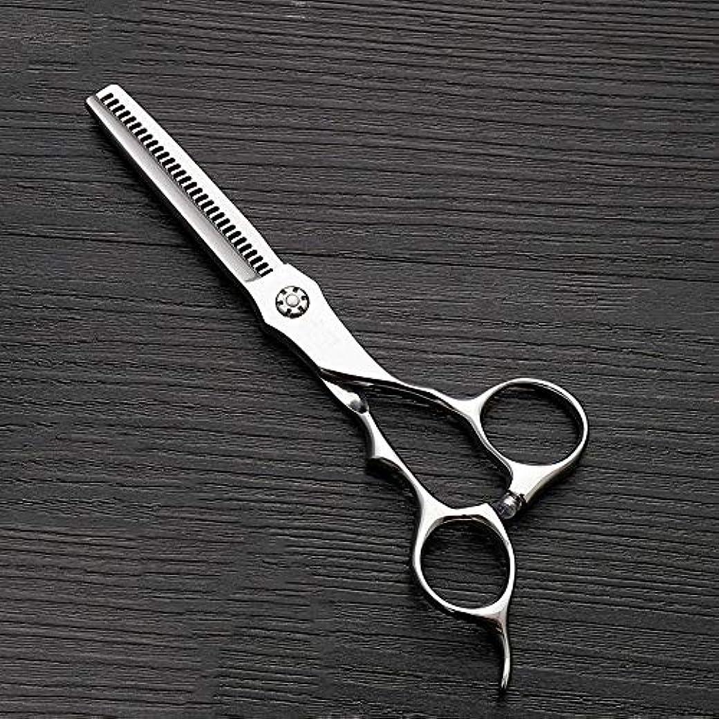 ゴネリルセットする王族理髪用はさみ 6インチのステンレス鋼の歯のせん断の薄くする理髪はさみ、美容院の特別な理髪はさみ毛の切断はさみステンレス理髪はさみ (色 : Silver)
