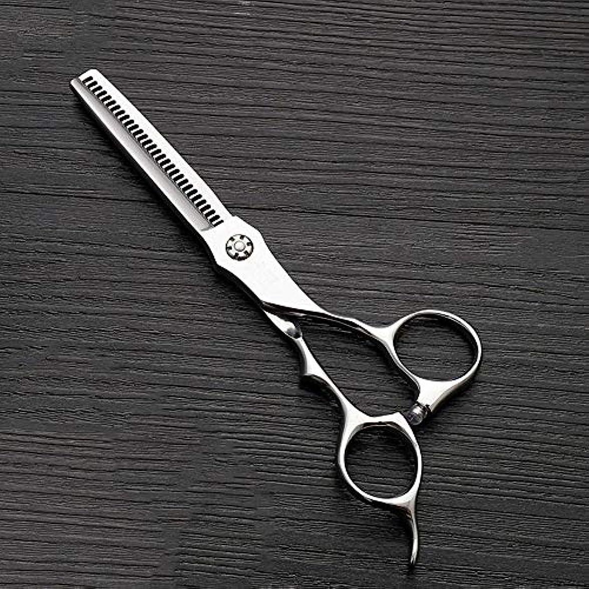 電気的糞降下6インチのステンレス鋼の歯のせん断の薄くする理髪はさみ、美容院の特別なはさみ ヘアケア (色 : Silver)
