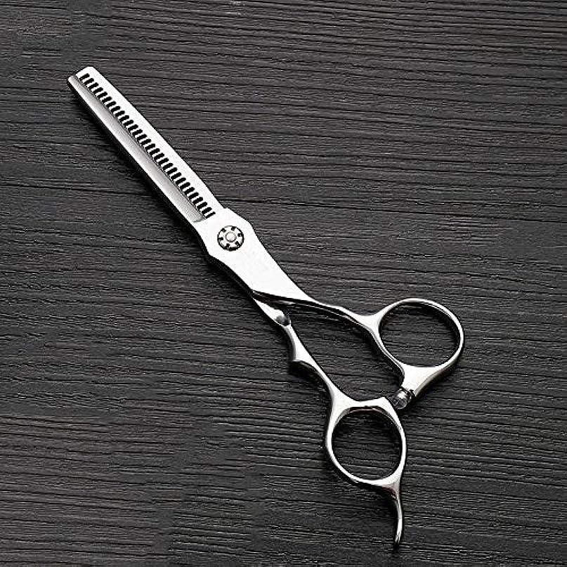 難しい記念品雑品6インチのステンレス鋼の歯のせん断の薄くする理髪はさみ、美容院の特別なはさみ ヘアケア (色 : Silver)