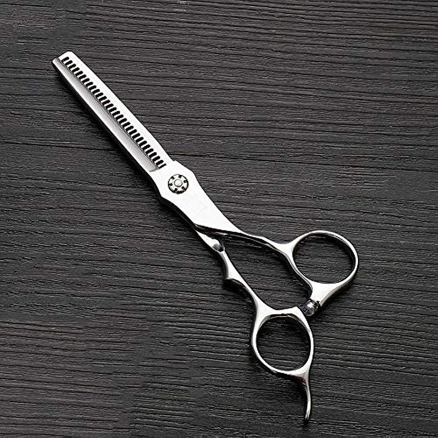 親市の中心部ヘア理髪用はさみ 6インチのステンレス鋼の歯のせん断の薄くする理髪はさみ、美容院の特別な理髪はさみ毛の切断はさみステンレス理髪はさみ (色 : Silver)
