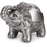 Hipiwe Elephant Windproof Ashtray with Lid, Desktop Metal Cigarette Ashtray Holder for Indoor or Outdoor Use, Unique Tobacco