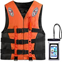 Reedark ライフジャケット釣り スマホ防水ケース+フローティングベストセット 呼び子付き 救命胴衣 子供用 大人用…