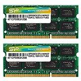 シリコンパワー ノートPC用メモリ 1.35V (低電圧) - 1.5V 両対応 204Pin DDR3L 1600 PC3L-12800 8GB×2枚 永久保証 SP016GLSTU160N22