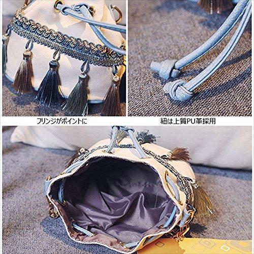 5b7574a2482 ... 安心品質良い☆♥安いし可愛い!♥巾着×フリンジ・ショルダーBAG ...