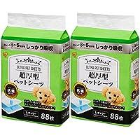 【Amazon.co.jp限定】 アイリスオーヤマ 超厚型 ペットシーツ レギュラー 88枚入×2個(まとめ買い)