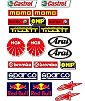 Onekool go1Kart Go Karting、22スポンサー全体的なレース車、Kartingデカール/ステッカー