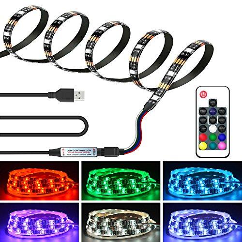 AEGOOL USB式LEDテープ RGB SMD5050 防水 切断可能 照明/装飾用 車内/室内...