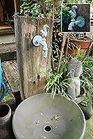 ジャービス商事 蛇口付 枕木立水栓 リス型蛇口(青銅色) 99019