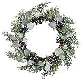 asca クリスマス 飾り ユーカリミックスリース AX67962-000
