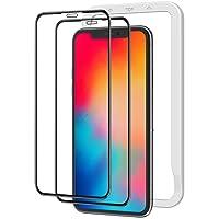 NIMASO 全面保護 ガラスフィルム iPhone11Pro iPhoneX Xs 用 画面 フィルム ガイド枠 2枚…