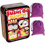 Sushi Go Party Game in Tin for 2 to 5 Players _ Bonus Two Purple Velveteen Drawstring Storage Pouches _ Bundled Items [並行輸入品]