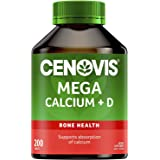 Cenovis Mega Calcium + D - Supports bone strength - Supports calcium absorption - Maintains muscle health, 200 Tablets