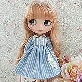 (ドーリア)Dollia ブライス 1/6ドール用 アウトフィット ブルー レース ストライプ ワンピース ネオブライス ドール 人形 ()