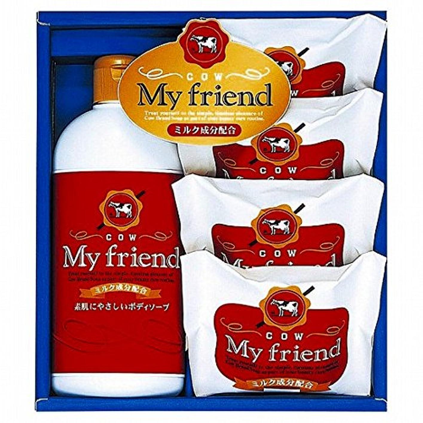 この複雑でない気難しいnobrand 牛乳石鹸 マイフレンドボディソープセット (21940007)