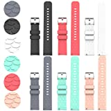 Compatible with Fossil Gen 4 Q Venture HR Bands Replacement Colourful Strap Bracelet, 6Pack 18MM Bands for Fossil Women's Gen