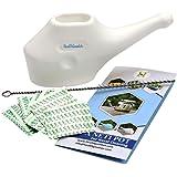 HealthGoodsAU - Traveller's Plastic Neti Pot For Nasal Cleansing With 10 Sachets of Neti Salt + 1 Cleaning Brush