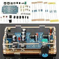 Prament DIY ハイファイヘッドフォンアンプ単一電源基板アンプキット透明ハウジング -