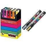 Uni-posca Paint Marker Pen SUPECIAL SET (c-set) Mitsubishi Pencil Uni Posca Poster Color Marking Pens Medium Point 15 Colours
