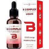 Vitamin B Complex Liquid Drops with Fast Absorption - Sublingual Drops Supplement - Vitamins B1, B2, B3, B6, B7, B9 & Methyl