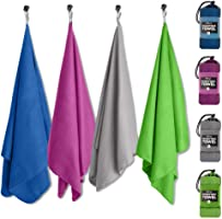 NewLyfe Microfiber Quick Dry Towel for Beach, Travel, Camping, Swim or Gym - Sand Free, Compact & Lightweight with Bonus...