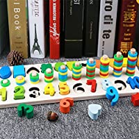 Rabugoo パズル おもちゃ 多色 1対1 デジタル 形状 ペア 認知 ボード パズル おもちゃ 子供 教育用 知能開発 おもちゃ 完璧なギフト