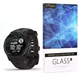 Tempered Glass Screen Protector BECROWM 9H Hardness Protective Glass Compatible with Garmin Instinct,2.5D Full Coverage High