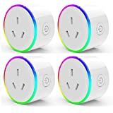 HomePro WIFI Smart Plug with RGB Light, Wireless Power Outlet Compatible with Amazon Alexa, Google Home Assistant and IFTTT,