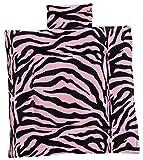 GOLD MOUNTAIN 動物のような毛並み ゼブラ柄 キルトシングルクッション ピンク GM177104